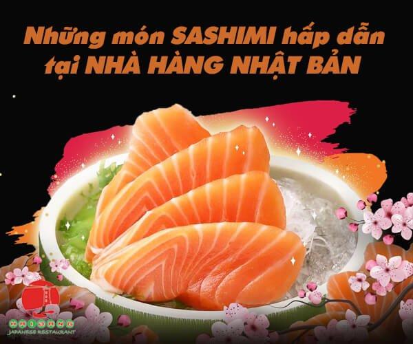 nhung mon sashimi hap dan tai nha hang nhat ban