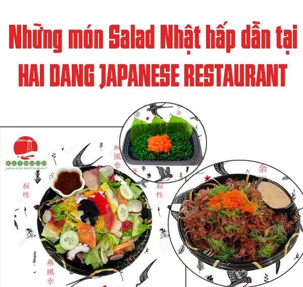 nhung mon salad hap dan tai nha hang nhat ban hai dang